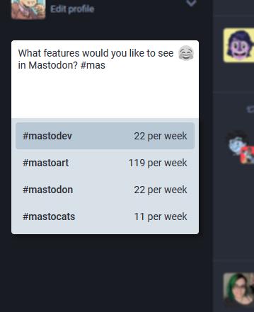 Suggerimenti automatici di Hashtag